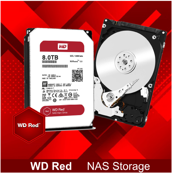 Hd Western Digital Wd Red 8tb Nas Sata 6gbs 128mb