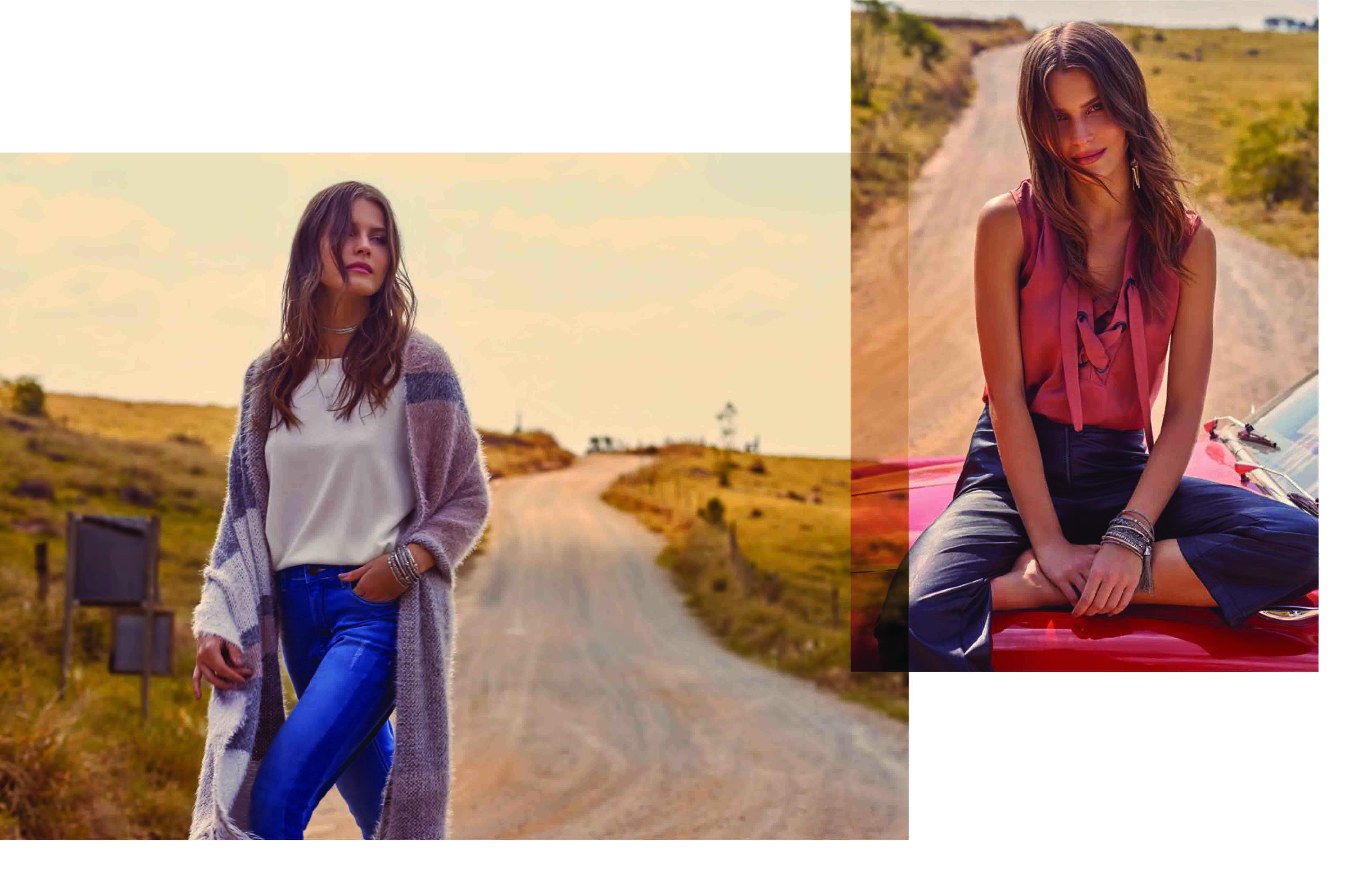 Couvet de Tricot com Jeans / Regata com Cropped Pants Couro Eco