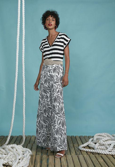 Blusa Stripe Large Recorte Barra