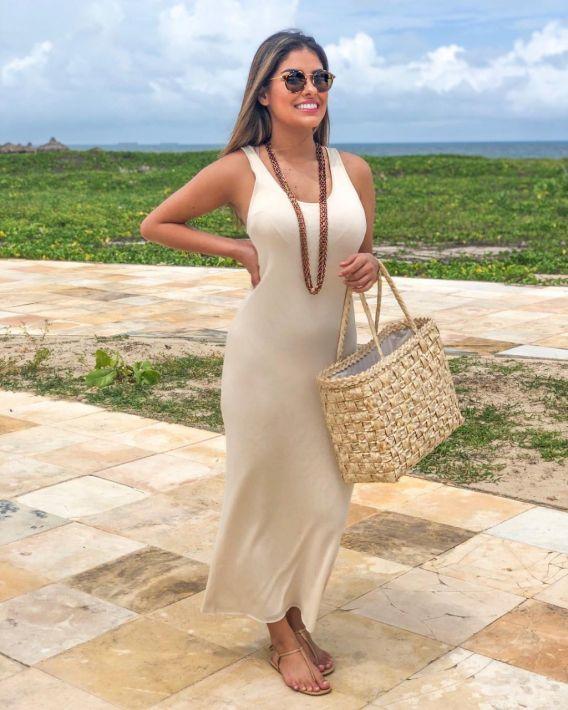 Vestido Básico Duplo - Munik Nunes