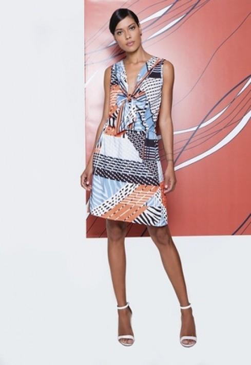 Vestido Cachequer Print Collors