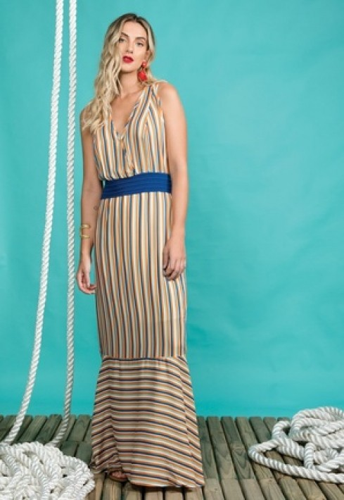 Vestido Color Stripe