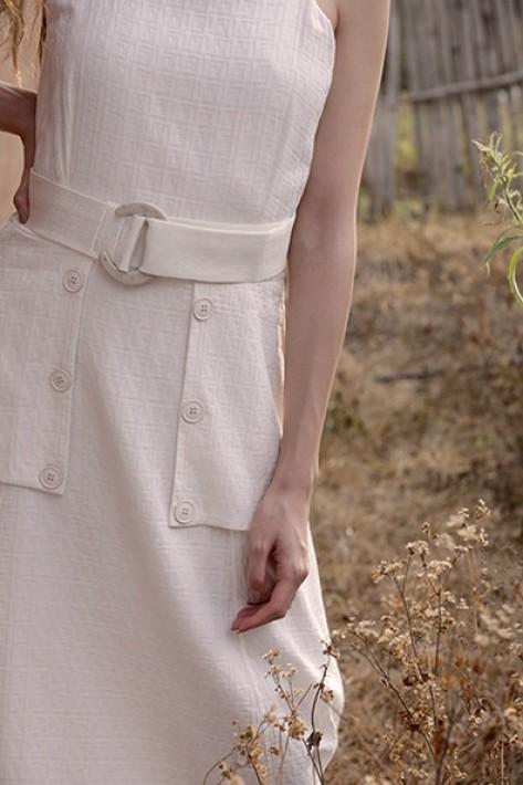 Vestido Detalhe Lapela