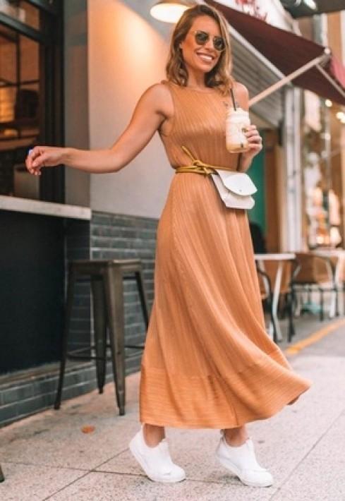 Vestido Longo Amarração Alça