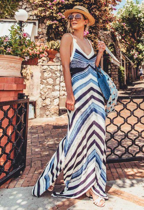 Vestido Longo Listrado Riviera