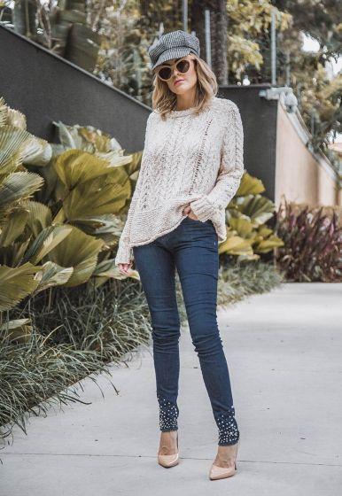 Calça Skinny Perolas