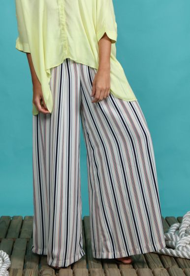 Maxi Pantalona Stripe Marítima