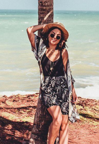 Shorts Silky Grecia Leaves - Rafinha Gadelha