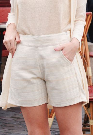 Shorts Tweed Listrado - Alê Serra