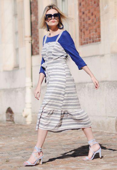 Vestido Alças Abotoamento Frente - Ale Serra