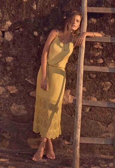 Vestido Bluse Midi Barrado