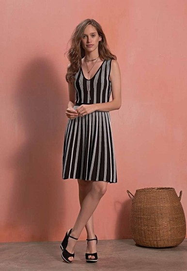Vestido Links Bicolor