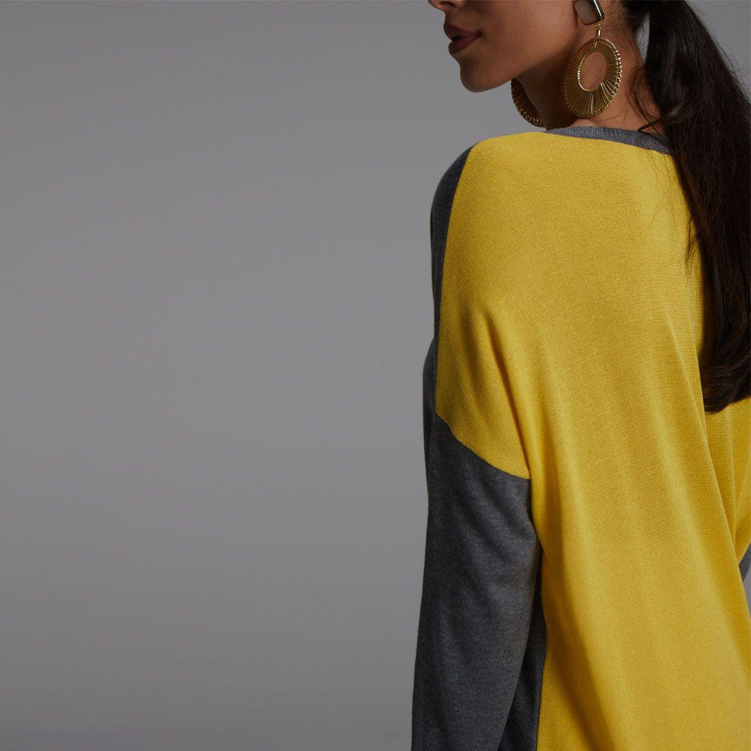 Blusa Ampla Bicolor