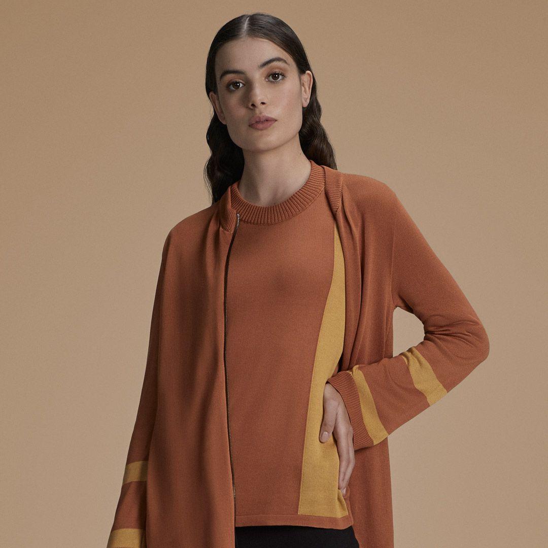 Blusa Bicolor Listras