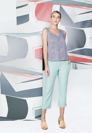 Blusa Jeans Tresse Twill