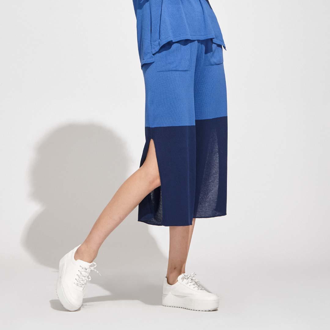 Calça Pantalona Bicolor