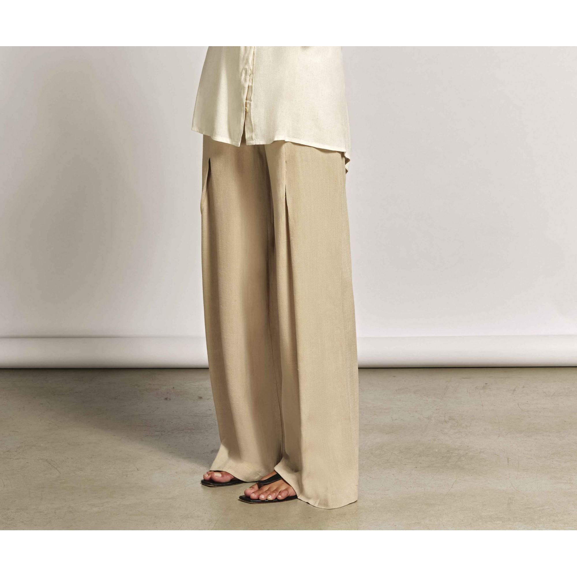 Calça Pantalona De Cos Largo