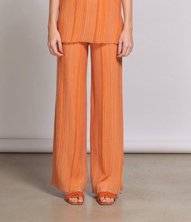 Pantalona em Tricot Plissado Araporã