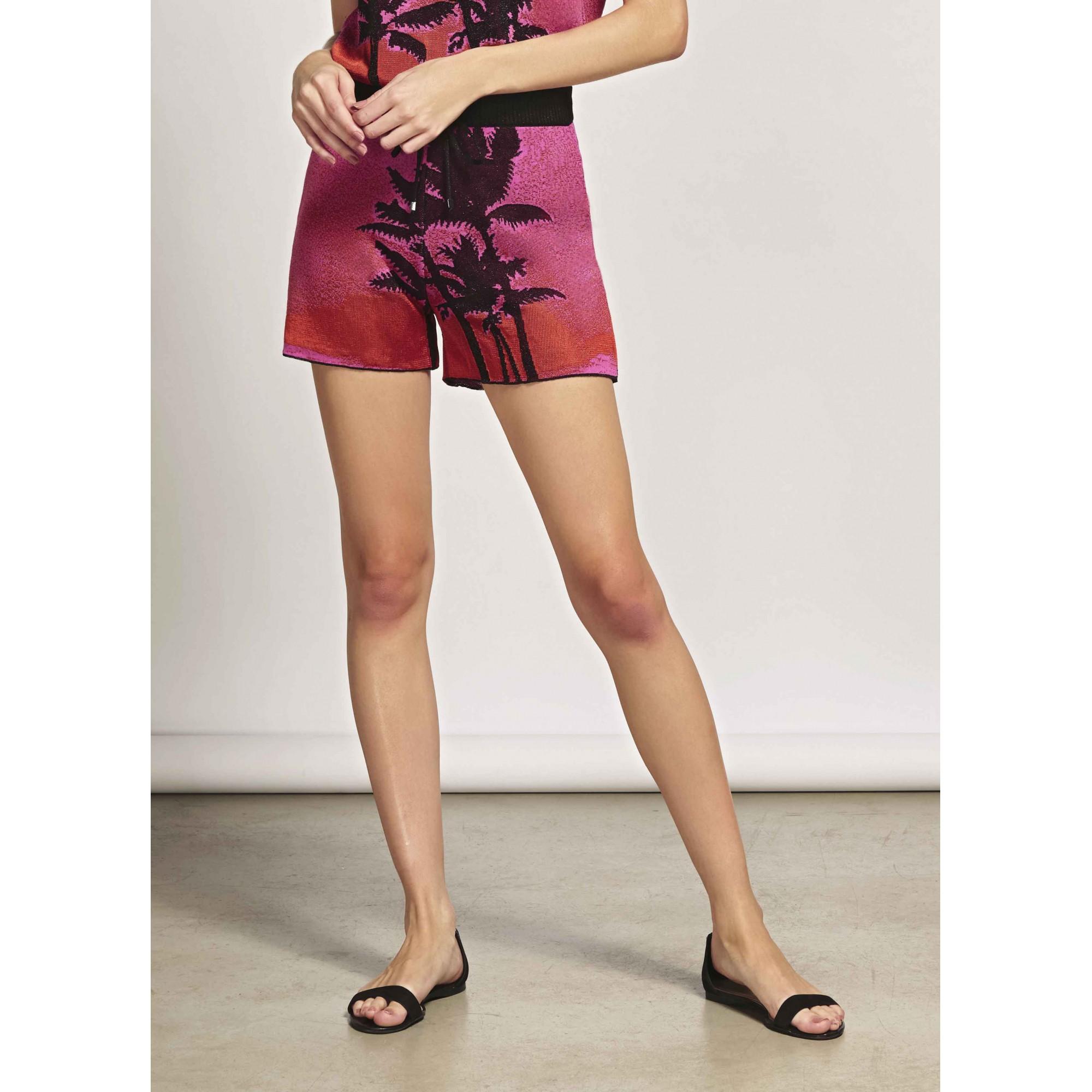 Shorts em Tricot Jacquard Olinda