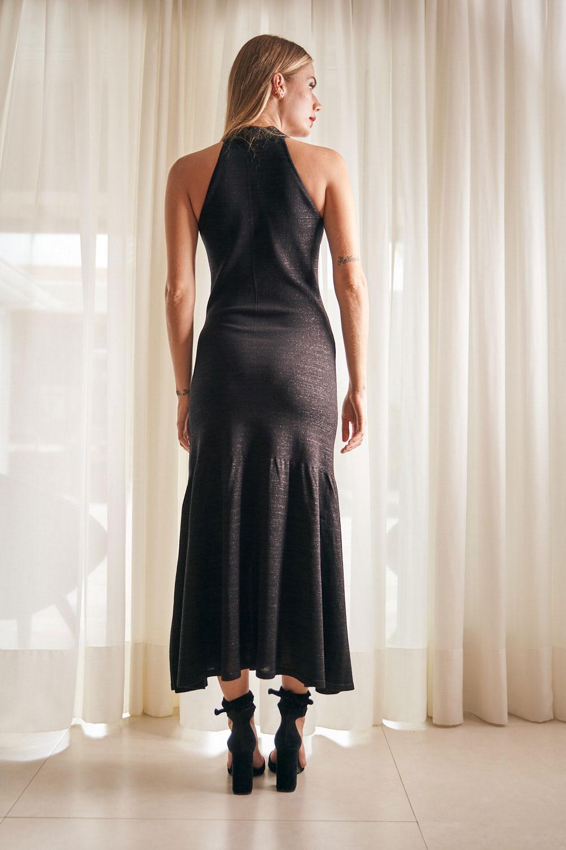 Vestido Com Lurex