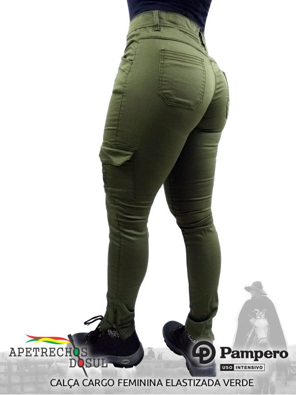 Calça Pampero Cargo Feminina Elastizada