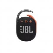 Caixa de Som Bluetooth Portátil JBL CLIP 4 Preta com Laranja à Prova d'água JBLCLIP4BLKO