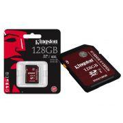 Cartão de Memória Kingston 128GB Classe 10 SDA3/128GB