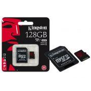 Cartão de Memória Kingston Micro SD 128GB Classe 10 + 1 Adaptador SDCA3/128GB