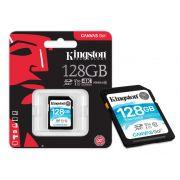Cartão de Memória Kingston SD Canvas GO! 128GB Classe 10 SDG/128GB