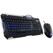 Kit Teclado e Mouse Gamer Thermaltake TT ESPORTS Commander KB-CMC-PLBLPB-01