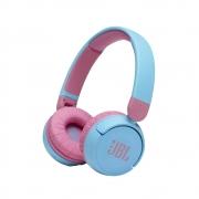 Fone de Ouvido Bluetooth (Sem Fio) Infantil JBL JR310BT Azul c/ Rosa, Microfone Integrado -  JBLJR310BTBLU