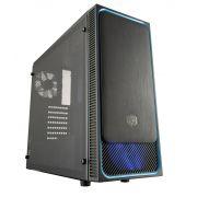 Gabinete Cooler Master Masterbox E500L Preto com Detalhes em AZUL MCB-E500L-KA5N-S00