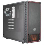 Gabinete Cooler Master Masterbox E500L Preto com Vermelho MCB-E500L-KA5N-S01