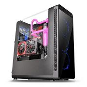 Gabinete Gamer Thermaltake View 27 Riing AZUL 120MM CA-1G7-00M1WN-BU