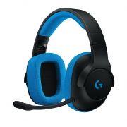 Headset Gamer Logitech G233 Prodigy P/ PC e Console PRETO/AZUL 981-000702