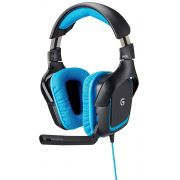 Headset Gamer Logitech G430 7.1 DOLBY Surround USB Preto e AZUL 981-000551