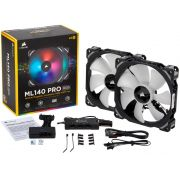 Kit 2 Unidades FAN Cooler Corsair ML140 PRO RBG LED 140MM CO-9050078-WW