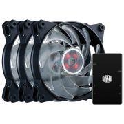 Kit 3 UNID. FAN Cooler Master Masterfan PRO 120 AIR Balance RGB C/ Controlador MFY-B2DC-133PC-R1