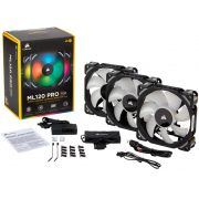Kit 3 Unidades FAN Cooler Corsair ML120 RGB LED 120MM CO-9050076-WW