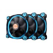 Kit 3 Unidades FAN Cooler Thermaltake Riing LED AZUL CL-F055-PL12BU-A