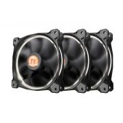 Kit 3 Unidades FAN Cooler Thermaltake Riing LED Branco CL-F055-PL12WT-A