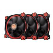 Kit 3 Unidades FAN Cooler Thermaltake Riing LED Vermelho CL-F055-PL12RE-A