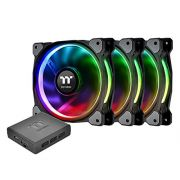 Kit 3 Unidades FAN Cooler Thermaltake Riing PLUS RGB 140MM LED Premium Edition CL-F056-PL14SW-A