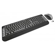 Kit Wireless Teclado e Mouse 1600 DPI ABNT2 Teclas Multimídia - TRUST