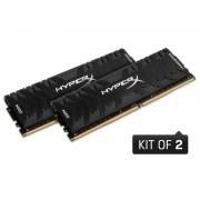 Memória RAM 16GB DDR4 (KIT 2X8GB) 3000MHZ HYPERX Predator Preta HX430C15PB3K2/16