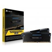 Memória DDR4 32GB (KIT 2X16GB) Corsair 3000MHZ Vengeance LED AZUL C15 CMU32GX4M2C3000C15B