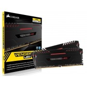 Memória DDR4 32GB (KIT 2X16GB) Corsair 3000MHZ Vengeance LED Vermelho C15 CMU32GX4M2C3000C15R