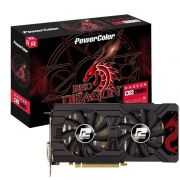 Placa de Vídeo AMD Power Color Radeon RX 570 RED Dragon 8GB DDR5 AXRX 570 8GBD5-3DHD/OC