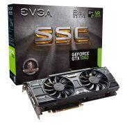 Placa de Vídeo Nvidia EVGA Geforce GTX 1060 SSC Gaming ACX 3.0 6GB DDR5 06G-P4-6267-KR