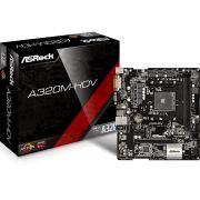 Placa Mãe ASROCK A320M-HD P/ AMD AM4 DDR4 USB 3.1 SATA III